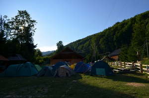 The camp site was surrounded by fascinating nature
