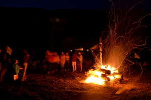 Bonfire site: the perfect evening time together