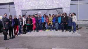 """Participants of """"Future's Wings"""" at an excursion"""