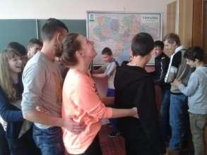 "Training at the ""Motivator"" youth club (Kyiv)"
