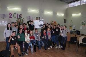 """NY celebration at the """"MIX"""" youth club (Odesa)"""