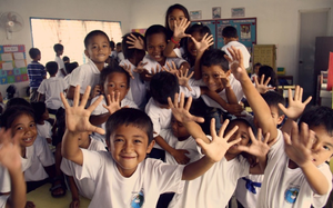 San Roque Students after hygiene training