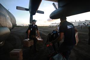 International Medical Corps team arrives in Guiuan