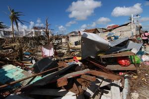 Severe damage on the island