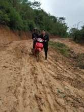 Mud surfing