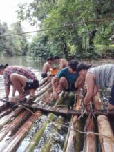 Building a bamboo ferry