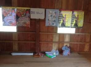 DARE's Prevention posters in the Karen Village
