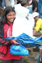 Civic Force relief pack beneficiary, Nov. 23, 2013