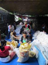 Volunteers repacking at CDRC headquarters