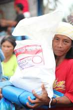 Relief packs distribution in Alangalang, Leyte