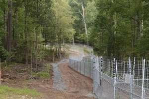 Perimeter of Habitat - Start of Fencing!