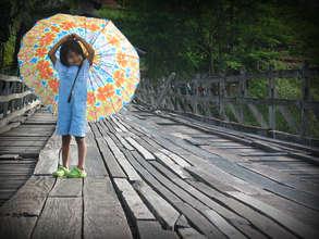 Rainy season bridge crossing