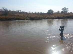 Swollen River Blocking Route to Health Centre