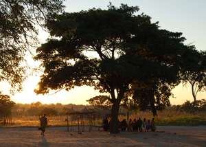 Patients arriving at dawn for clinics