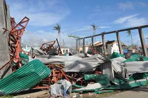 Even metal roofs were destroyed by Haiyan