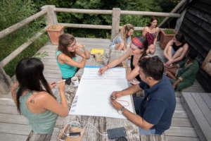 Participants in nature-connection workshop -GESA18