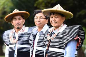Idu Mishmi shamans at the GSM opening ceremony