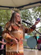 Loretta Afraid of Bear Cook opens GSM