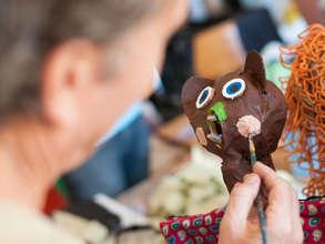 A GESA workshop featured political puppet making