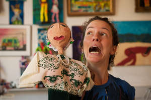 Getting into character during puppetmaking