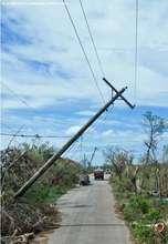 Fallen electric post