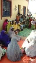 Focus Group discussion with the women and children