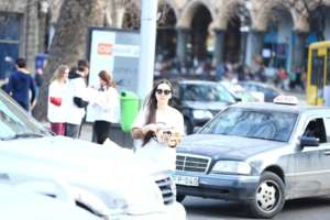"""Mind Zebra"" event for pedestrian rights, Tbilisi"