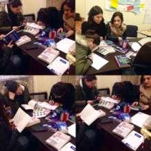 """Reading group meeting in """"Udabno"""", Sagarejo"""