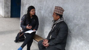 Sumi taking feedback from teacher in Kolti