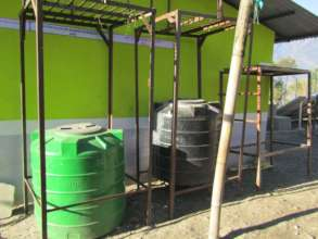 Water tanks at Guranse Primary School