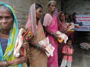 Empowering elderly women by giving monthly food