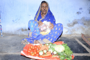 Food Provision donation to poor oldage woman india