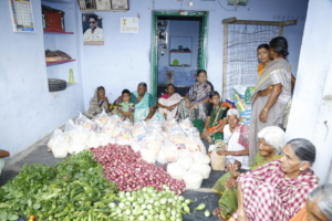 Food provision donations to charity of old aged