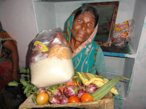 Groceries monthly donation for poor women charity