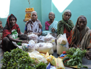 Nonprofit charity works for poor elderly seniors