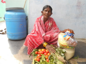 Woman surviving with monthly groceries donations