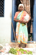 Seruds serving Food provisions to Poor Seniors