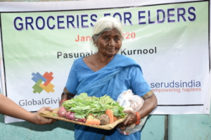 best charity india donating food to old age people