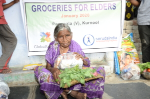 Groceries monthly donations to poor elderly person