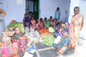 monthly donation of food groceries to poor elderly