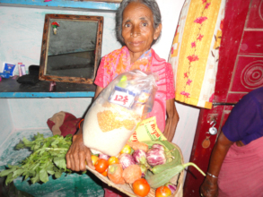 monthly provisions donations for elderly women