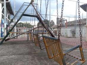 Empty park in Perquin where kids normally play.