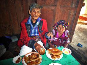 Elders with bread