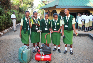 Students develop affordable fire extinguisher