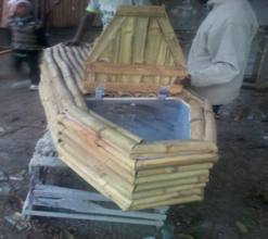 Bamboo coffin development in place of hardwood