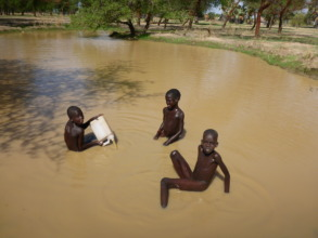 Boys bathing in Gaikou village