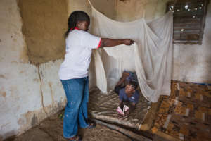 Preventative malaria programs encourage bednet use