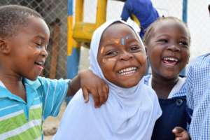 Children at a Play Lab in Tanzania.