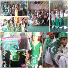 Students celebrated Independence Day of Pakistan.
