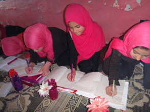 Immersed in lessons in Kabul, Afghanistan.